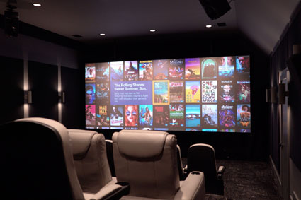Home Theater Showcase: 17ft Screen Industrial Design